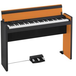 Korg LP-380 73 Key Digital Piano, Black and Orange