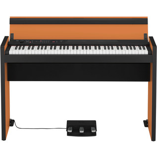 Korg LP-380 73 Key Digital Piano, Black and Orange