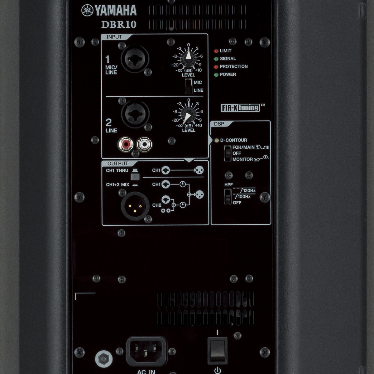 yamaha dbr10 active pa speaker pair with speaker stands at. Black Bedroom Furniture Sets. Home Design Ideas