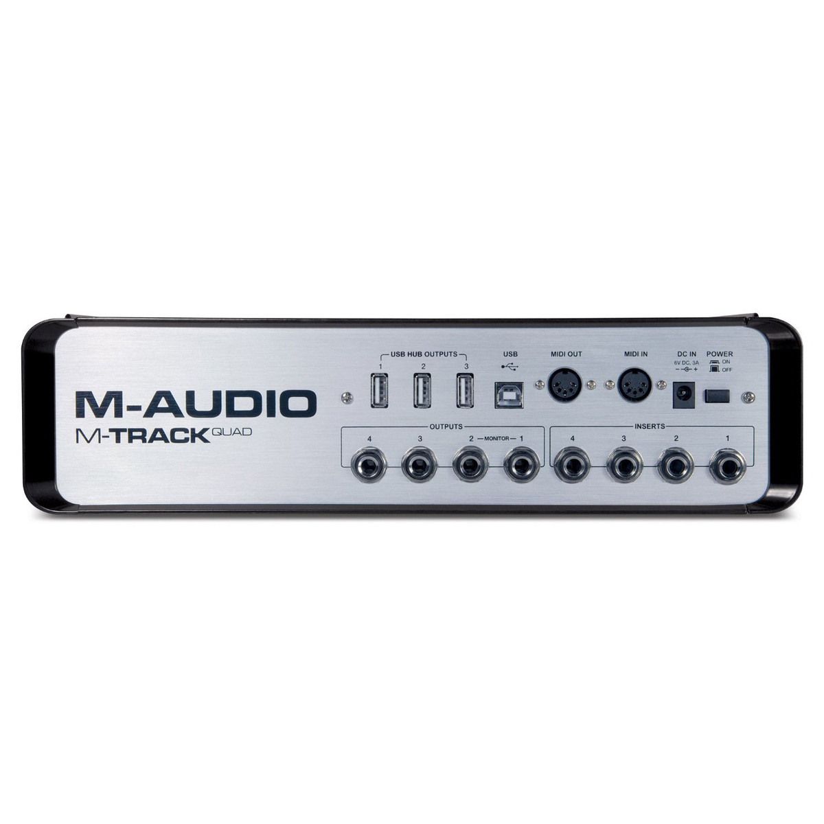 m audio m track quad usb audio interface at. Black Bedroom Furniture Sets. Home Design Ideas