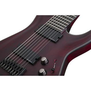 Schecter Blackjack ATX C-8 8 String Guitar, Vampyre Red Satin