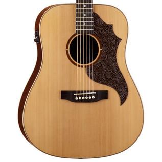 Luna Americana Electro Acoustic Guitar, Leather Pick Guard