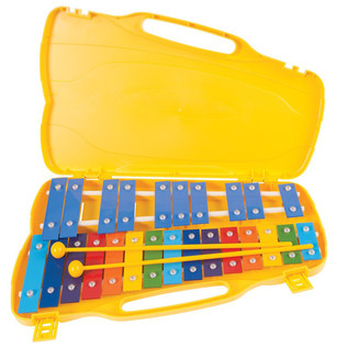 Performance Percussion G5-G7 25 Note Glockenspiel, Coloured Keys