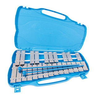 Performance Percussion G5-G7 25 Note Glockenspiel, Silver Keys