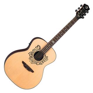 Luna Celtic Horse Grand Concert Electro Acoustic Guitar, Natural