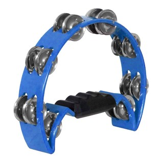 Performance Percussion 1/2 Moon Tambourine, Blue