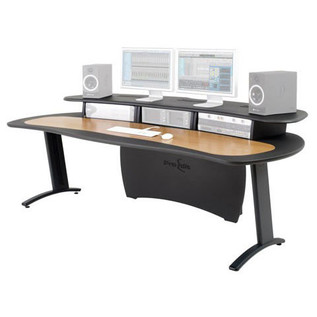 AKA Design Pro Edit Studio Desk, Grey and Oak