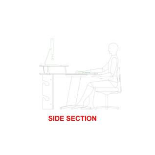AKA Design ProEdit Studio Desk with 12U Rack, Blue and Maple 4