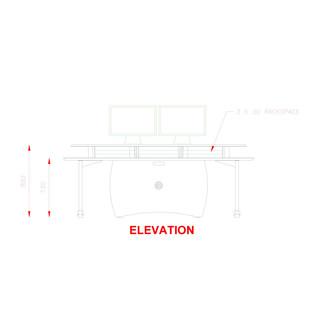AKA Design ProEdit Studio Desk with 12U Rack, Blue and Maple 5