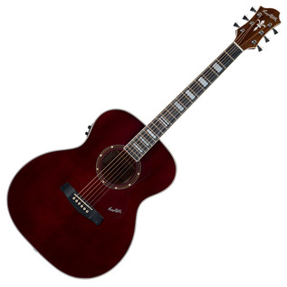 Hagstrom Siljan Custom Guitar, Black Cherry Flame