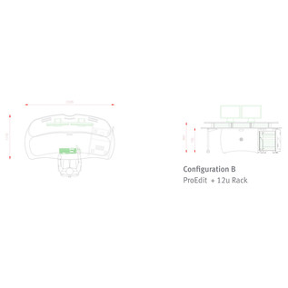 AKA Design ProEdit Studio Desk with 12U Rack, Grey and Oak 5