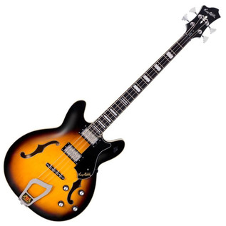 Hagstrom Viking Bass Short Scale Guitar, Tobacco Sunburst