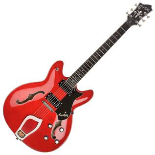 Hagstrom Viking Semi-Hollow Guitar, Wild Cherry Transparent