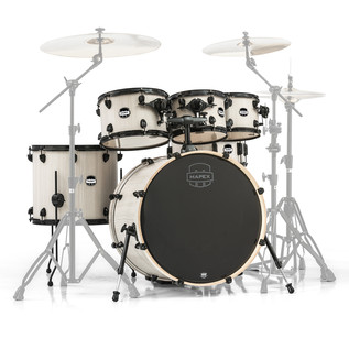Mapex Mars 22'' Special Edition Rock 6 Piece Shell Pack, Bonewood