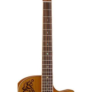 Luna Henna Paradise Electro Acoustic Guitar, Cedar