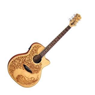 Luna Henna Paradise Electro Acoustic Guitar, Spruce
