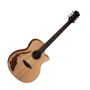 Luna Oracle Koi Grand Concert Electro Acoustic Guitar