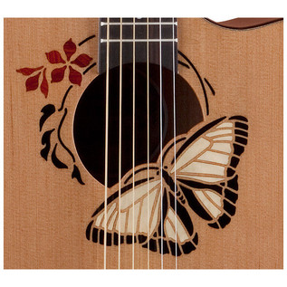 Luna Oracle Butterfly Grand Concert Electro Acoustic Guitar