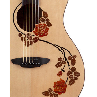 Luna Oracle Rose Folk Electro Acoustic Guitar