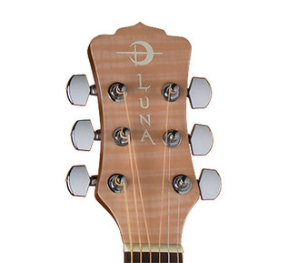 Luna Gypsy Flame Folk Cutaway Acoustic Guitar