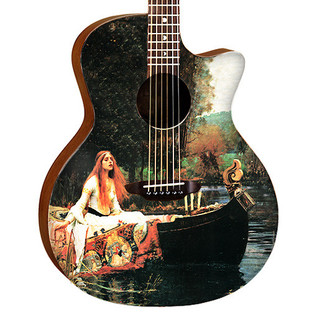 Luna Gypsy Lady of Shalott Acoustic Guitar