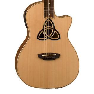 Luna Trinity Parlor Cutaway Electro Acoustic Guitar
