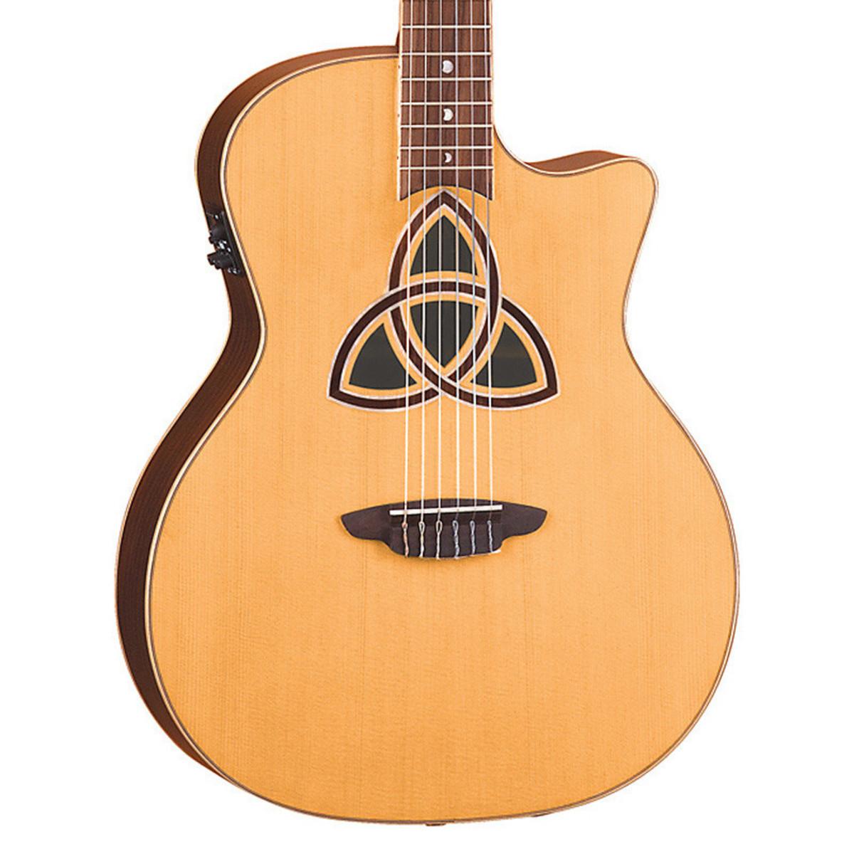 disc luna trinity nylon grand concert guitare electro. Black Bedroom Furniture Sets. Home Design Ideas