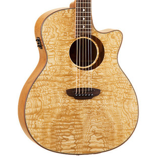 Luna Woodland Quilted Ash Grand Concert Electro Acoustic Guitar