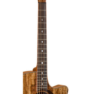 Luna Woodland Spalted Maple Grand Concert Electro Acoustic Guitar