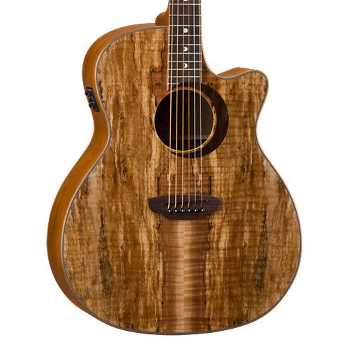 luna woodland spalted maple grand concert electro acoustic guitar at. Black Bedroom Furniture Sets. Home Design Ideas