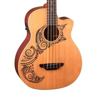 Luna Tattoo Electro Acoustic Bass, Cedar