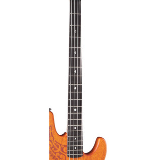 Luna Tattoo Electric Bass Guitar, 34 inch Scale