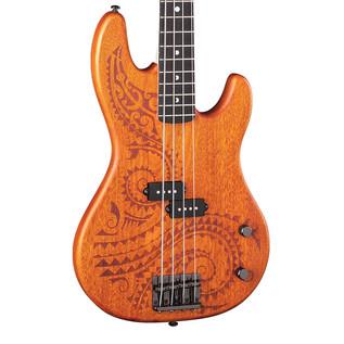 Luna Tattoo Electric Bass Guitar, 34 inch Scale
