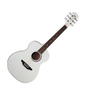 Luna Aurora Borealis 3/4 Guitar, White