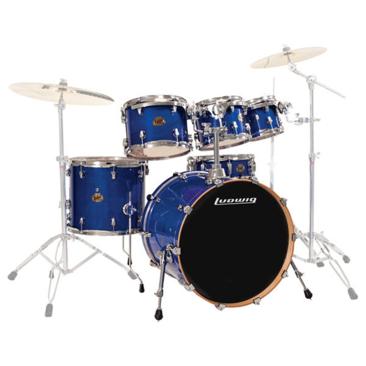ludwig element lacquer fusion acoustic drum kit deep blue at. Black Bedroom Furniture Sets. Home Design Ideas