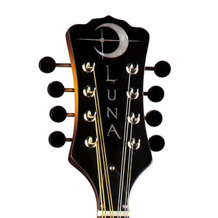 Luna Trinity A-Style Mandolin, Celtic Inlay