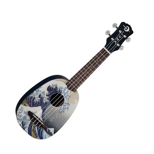 Luna Great Wave Soprano Ukulele + Gig Bag