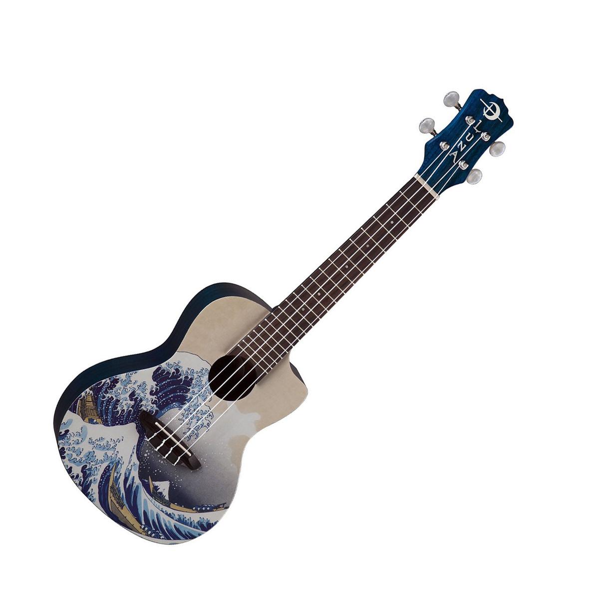 Ukul l concert de luna grande vague housse for Housse ukulele concert