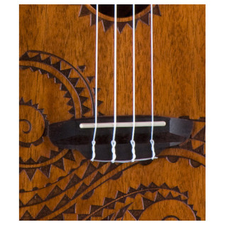 Luna Tattoo Electro Acoustic Concert Ukulele, Mahogany