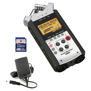 Zoom H4n SP Handheld Digital Recorder, Free Power Supply