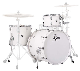 Gretsch Drums Renown Maple 22'' 3 Pc Euro Shell Pack, Satin White