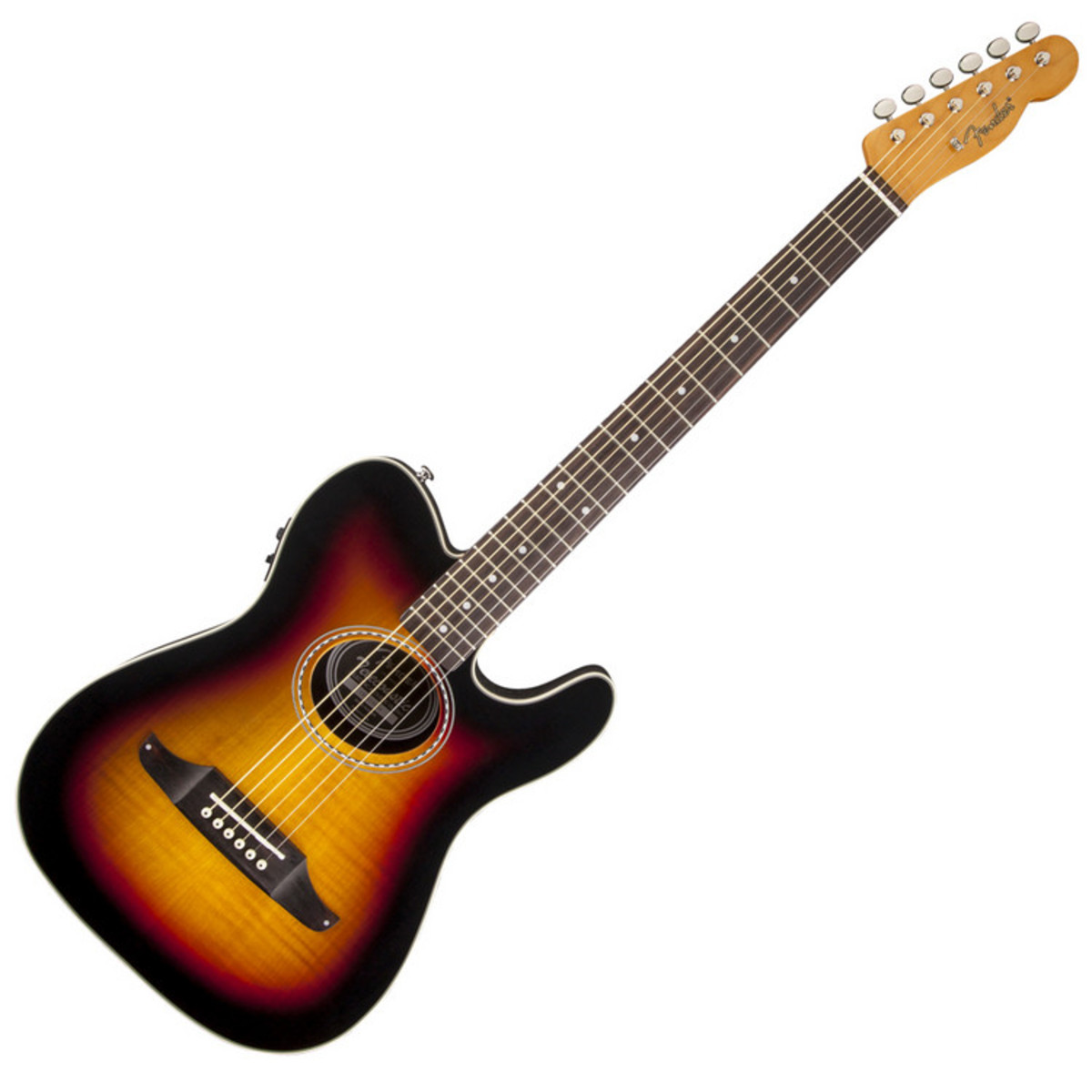 fender telecoustic premier electro acoustic sunburst nearly new at. Black Bedroom Furniture Sets. Home Design Ideas