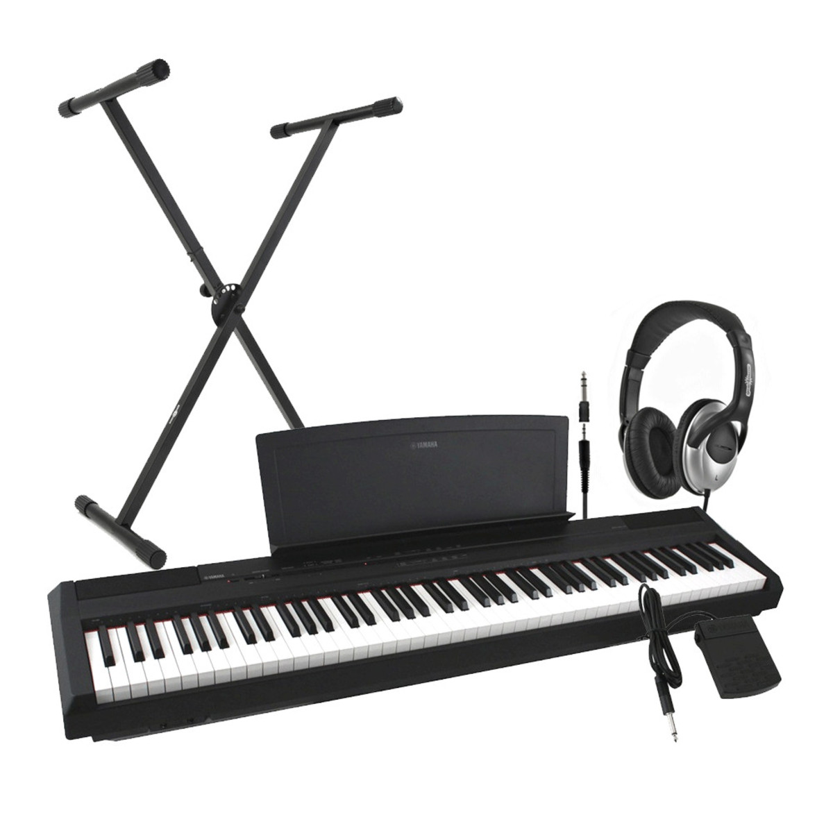 disc yamaha p35 digital piano black including stand and