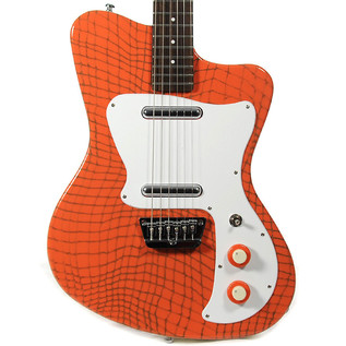 Danelectro 67 Heaven Guitar, Alligator Orange 2