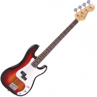 Encore E4 Blaster Bass Guitar, Sunburst