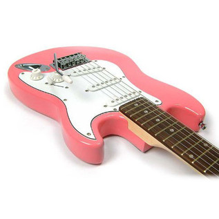 Encore E6 Electric Guitar, Pink 2