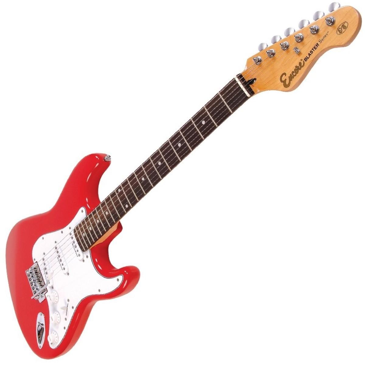 encore e6 electric guitar red at. Black Bedroom Furniture Sets. Home Design Ideas