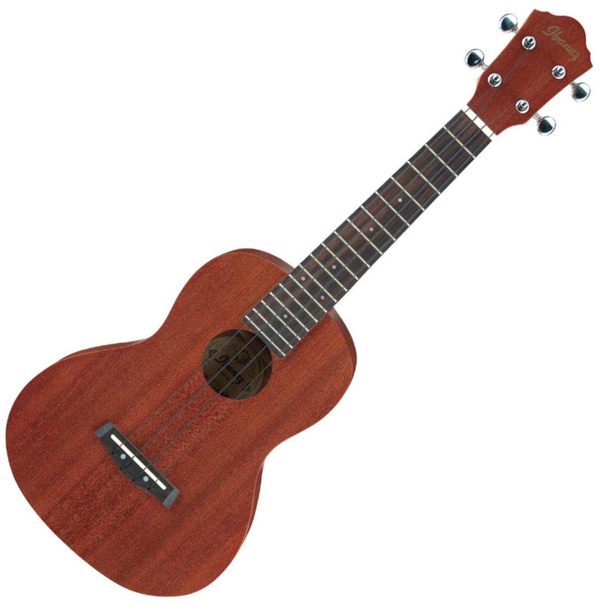 Ibanez ukc10 concert ukul l metallis en housse comme for Housse ukulele concert