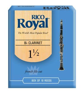 Rico Royal Bb Clarinet Reeds 1.5, 10 Box