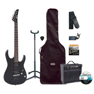Encore E89 Electric Guitar Outfit, Black
